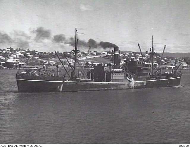 SS Macumba before it was sunk