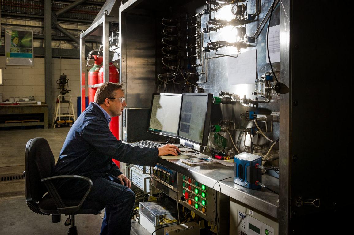 Researcher in CSIRO lab