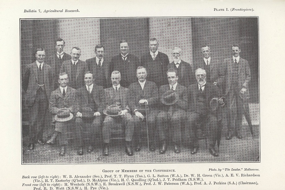 Delegates to the national meeting on Agricultural Research in Australia, Melbourne 9-16 November 1917.