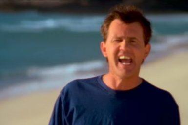 Daryl Braithwaite in the music video The Horses