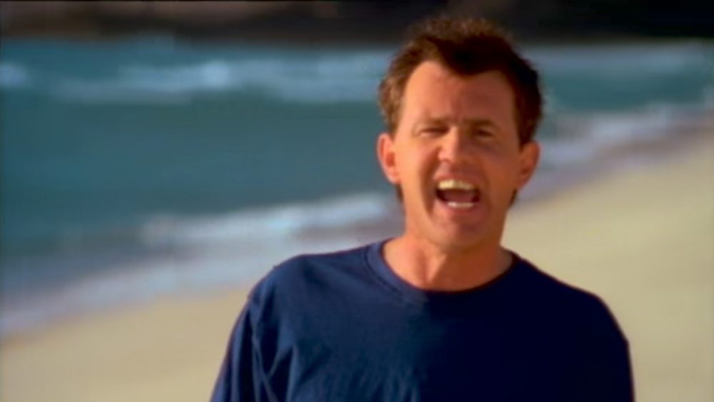 Daryl Braithwaite in the music video The Horses