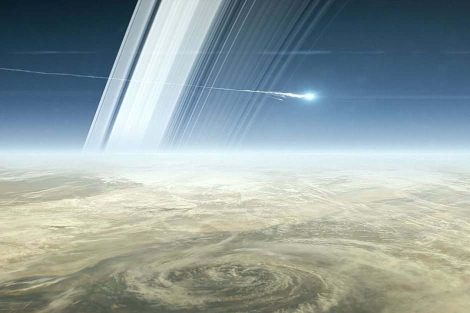 Cassini crashing
