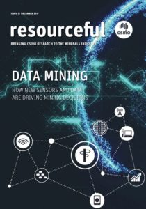 Cover of the Issue 13 of resourceful magazine showing title and abstract representation of networks of sensors and dispays