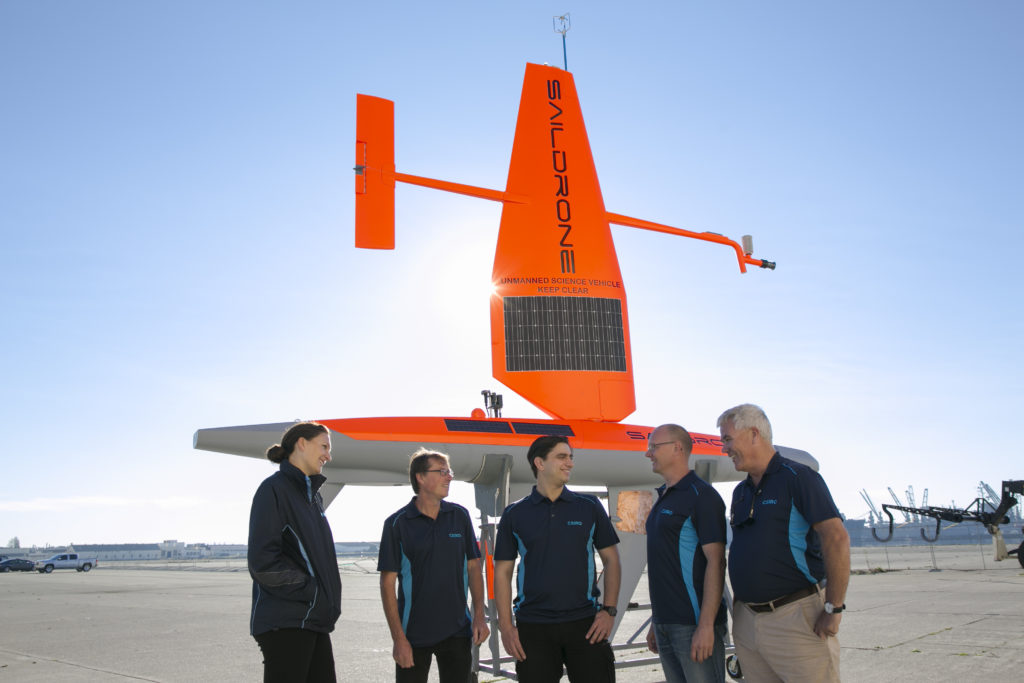 We're working with San Francisco-based ocean technology start-up, Saildrone, to radically improve measurement and monitoring in Australian waters and the Southern Ocean.