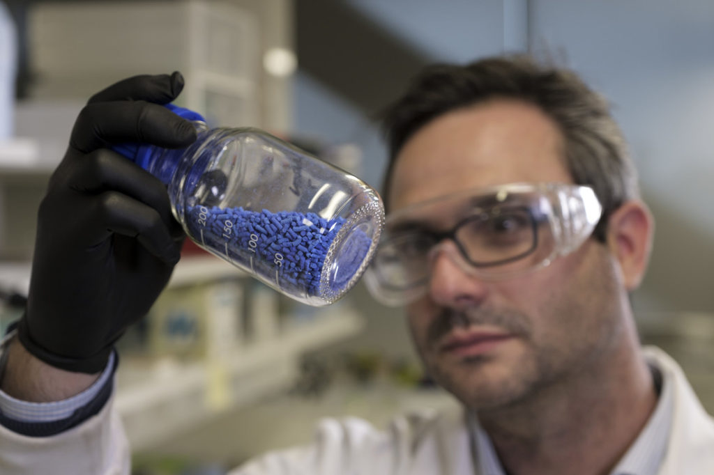 These blue pellets are MOFs and could be coming to a submarine near you.