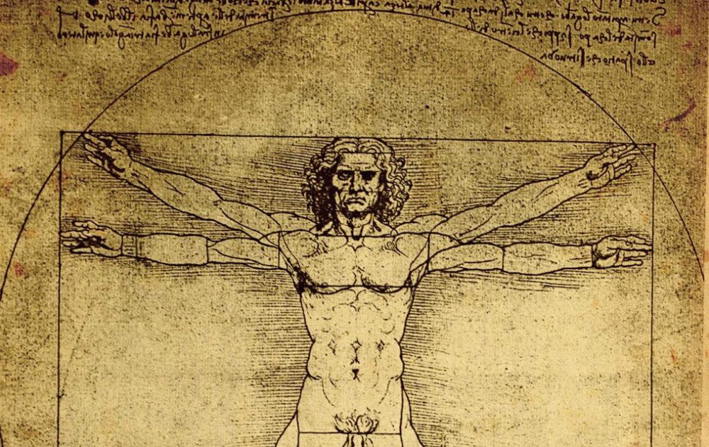 Leonardo Da Vinci's Vitruvian Man drawing