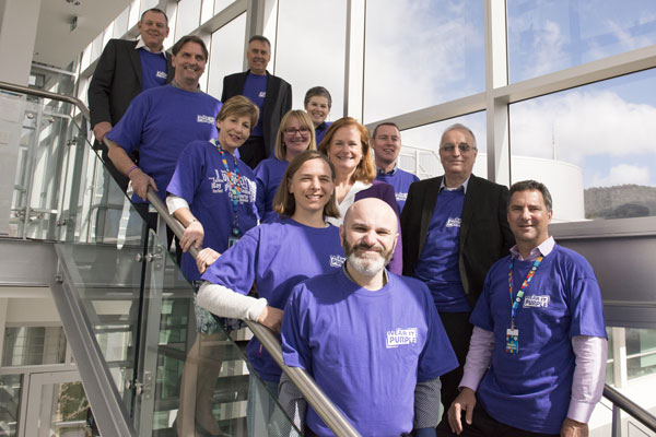 Our leadership team celebrated diversity with Wear It Purple day last year.