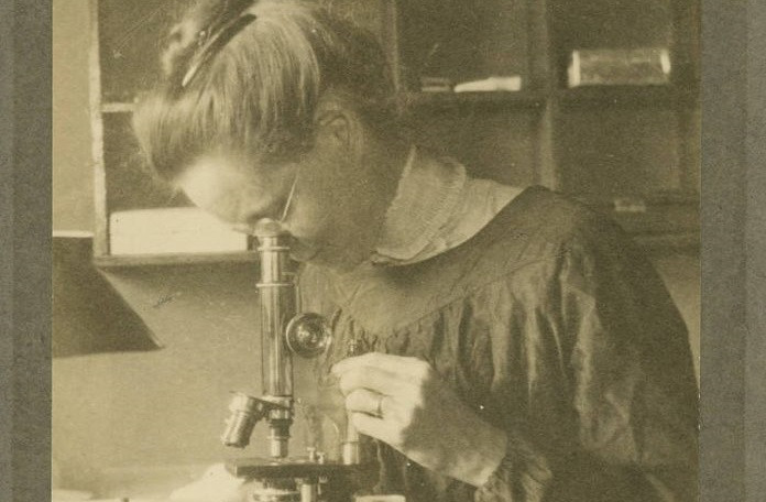 Nettie Stevens at work at the Naples Zoological Station in 1909. Image: Bryn Mawr Special Collections