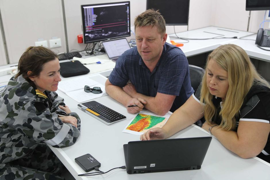 PHOTO: Christie Evans spent time learning about ocean forecasting. (Supplied: CSIRO)