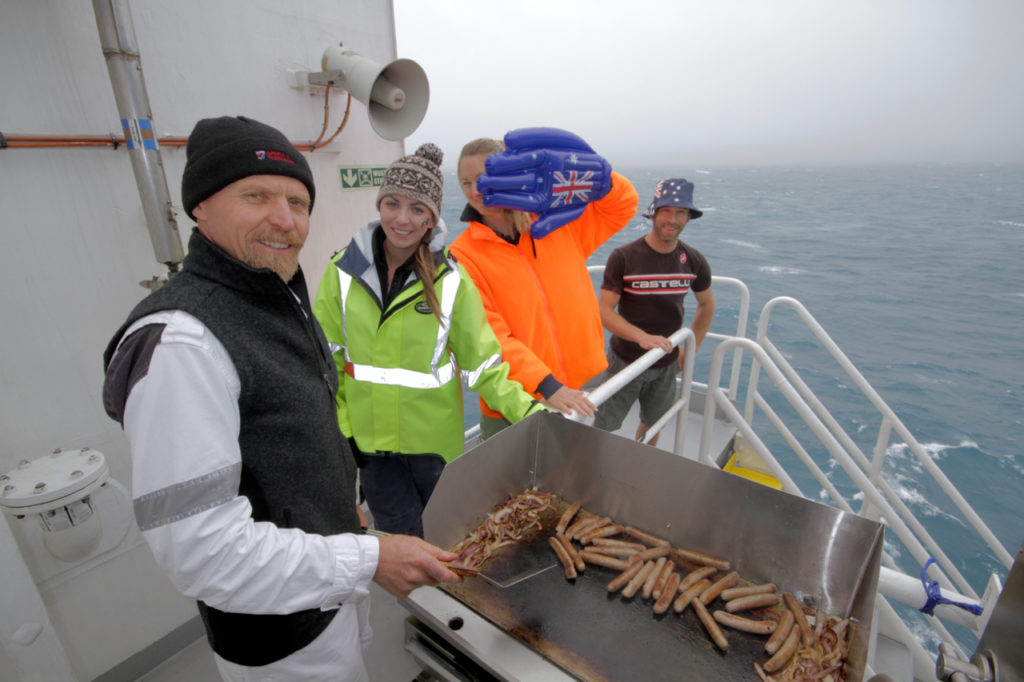 BBQ time for Australia Day in the Southern Ocean en route to Heard Island