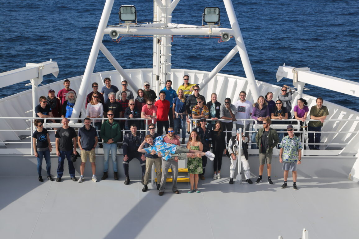 In the middle of the Southern Ocean with Investigator's science team
