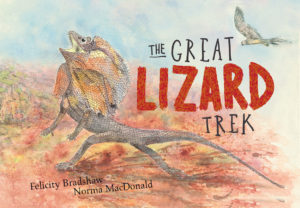 The great lizard trek book cover iamge