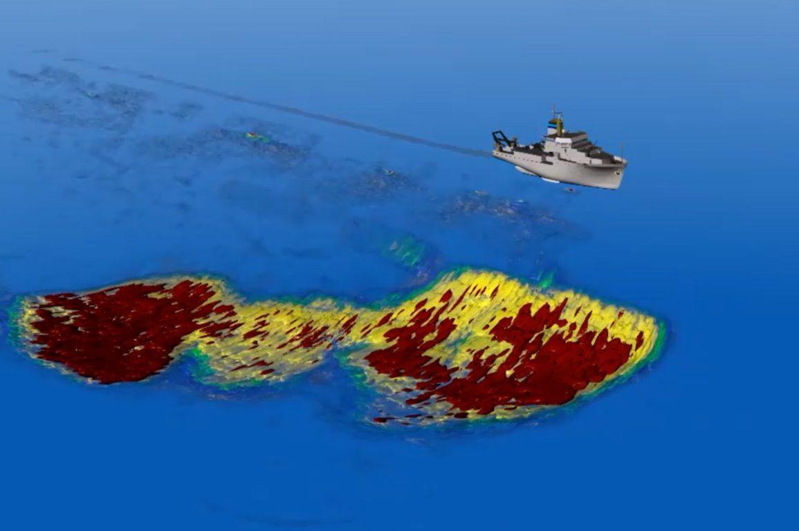 3D model krill swarm 400m long 200m wide 100m deep
