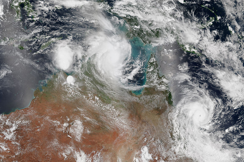 Two cyclones in Australia