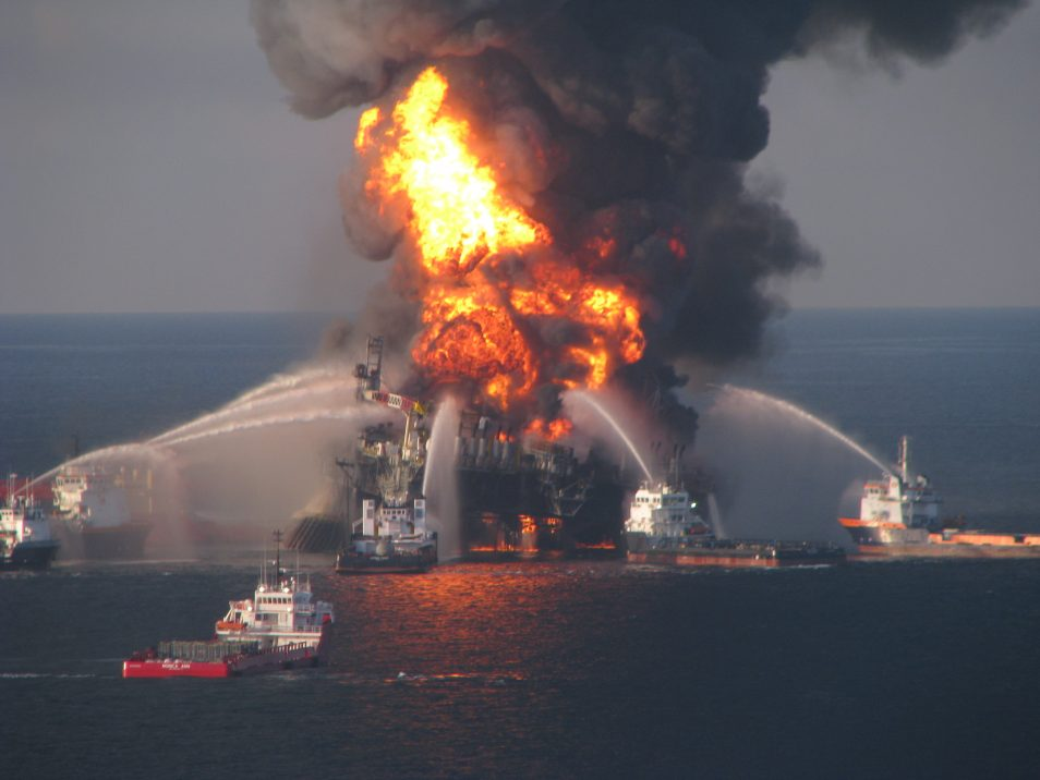 An image of the blaze from the Deepwater Horizon offshore oil incident