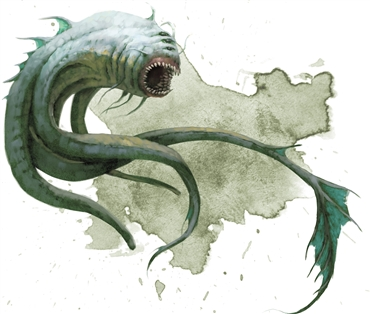 A graphic drawing of an Aboleth from Dungeons and Dragons