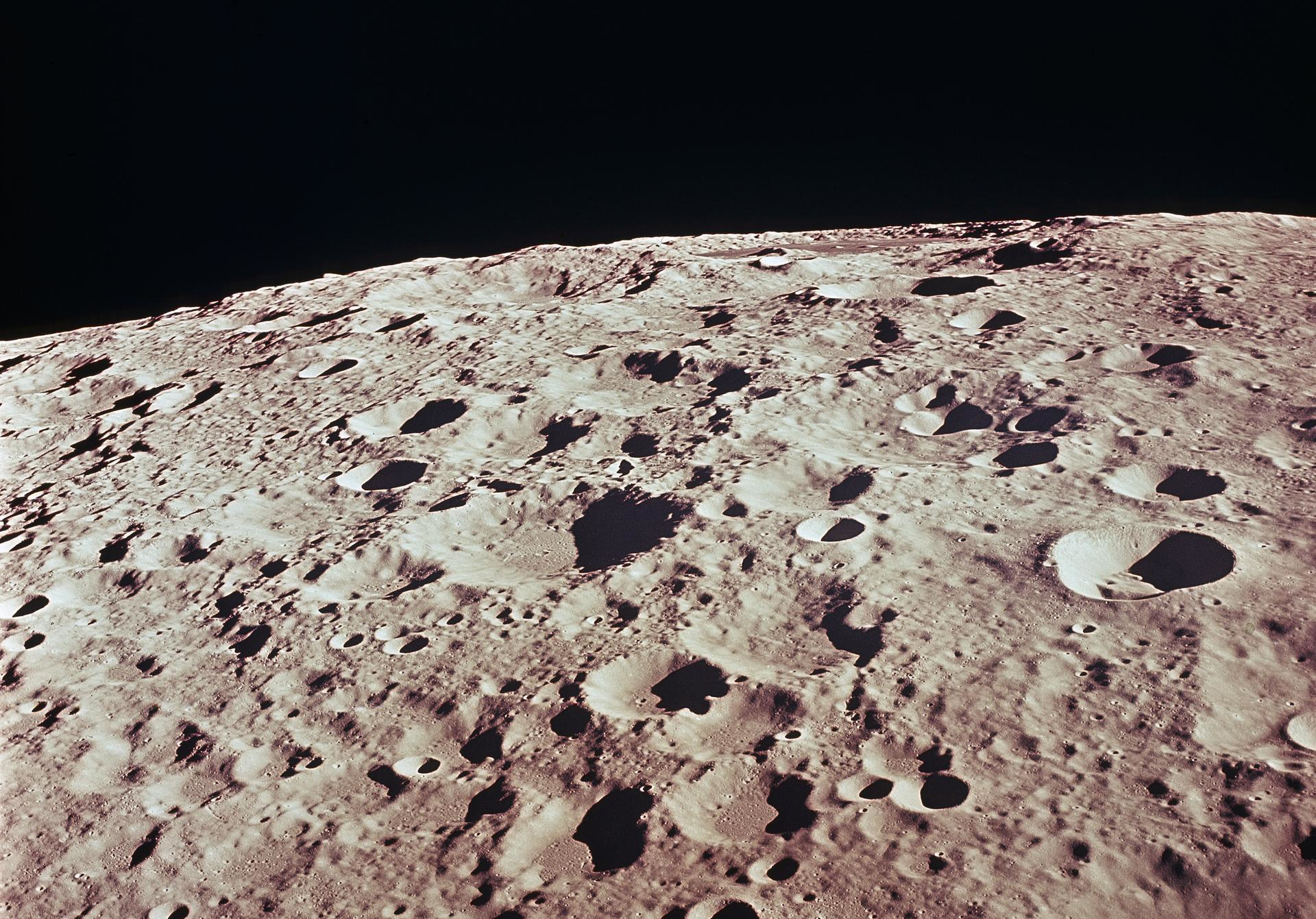 close up of craters on the moon