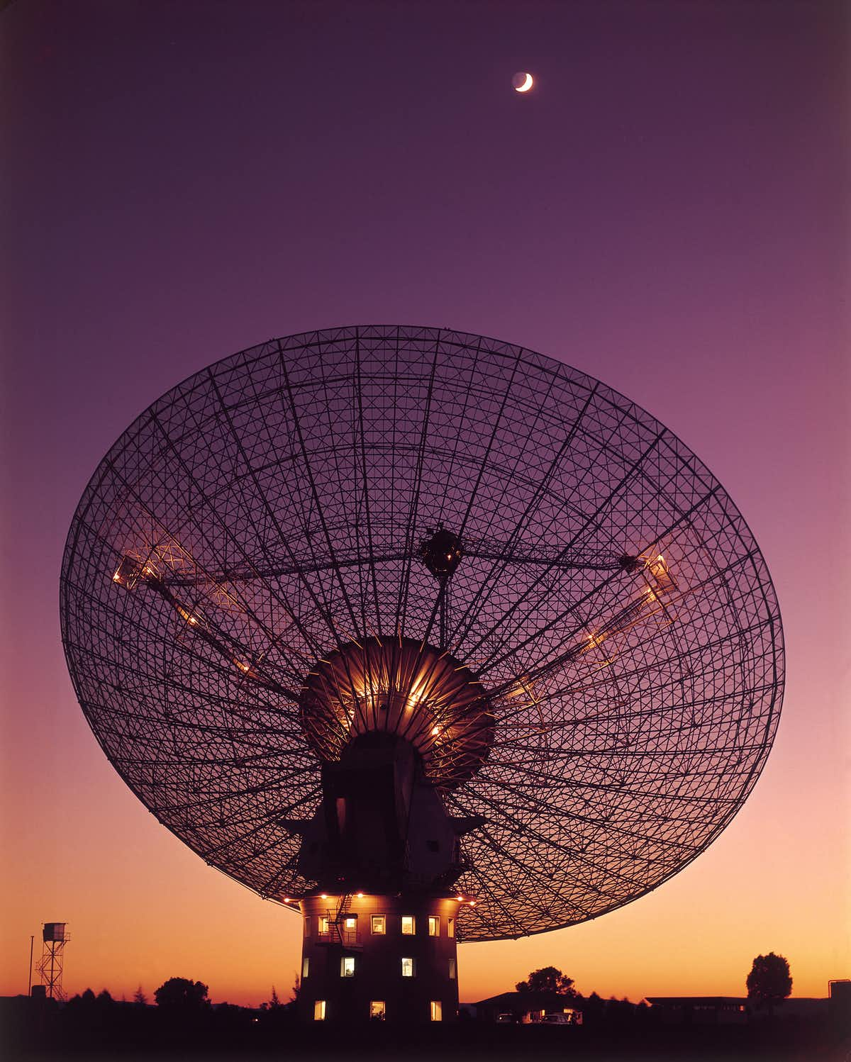 The Parkes dish with Moon in 1969