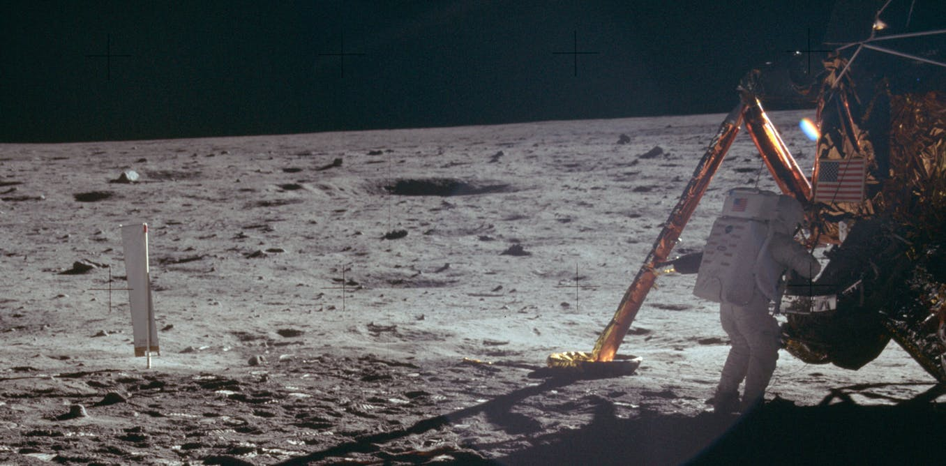 US astronaut Neil Armstrong on the Moon during the Apollo 11 mission