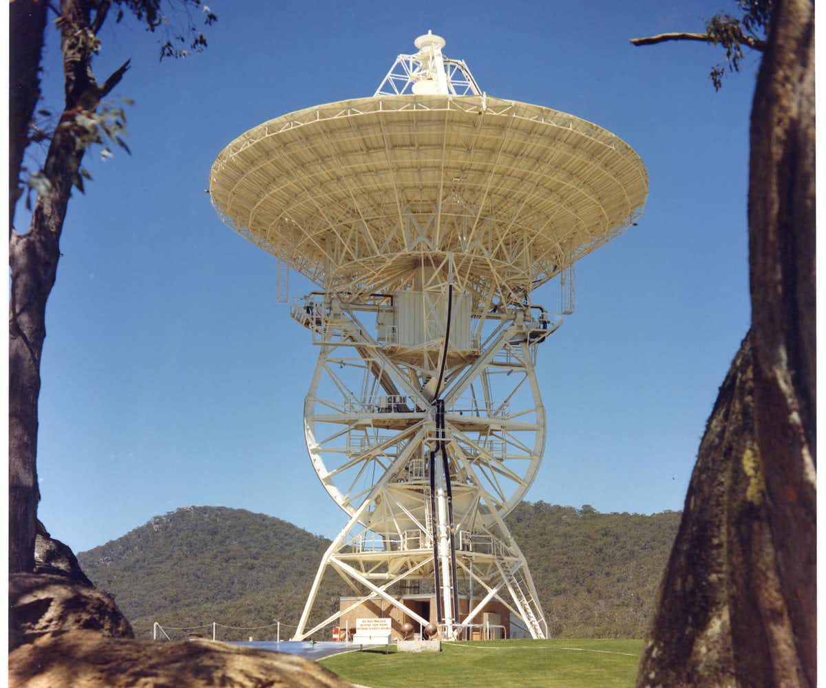 Honeysuckle Creek antenna in 1969