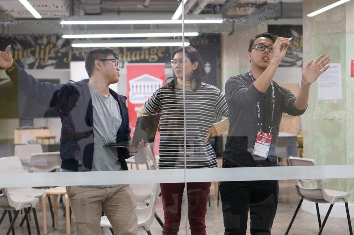 GovHack team brainstorming