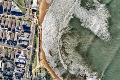 Aerial shot of Sydney's Northern Beaches