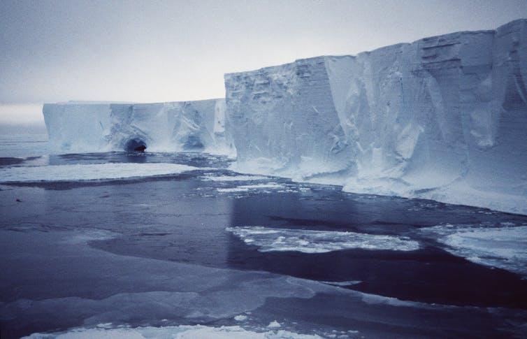 Icebergs in ocean