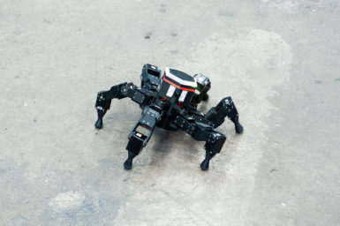 Robot on concrete floor - just one example of tech within the AI Roadmap