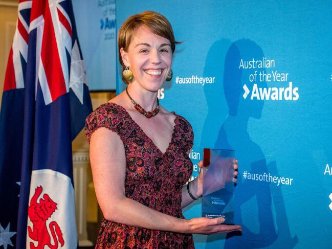 CSIRO researcher Jess Melbourne-Thomas receives her Australian of the Year Tasmania award