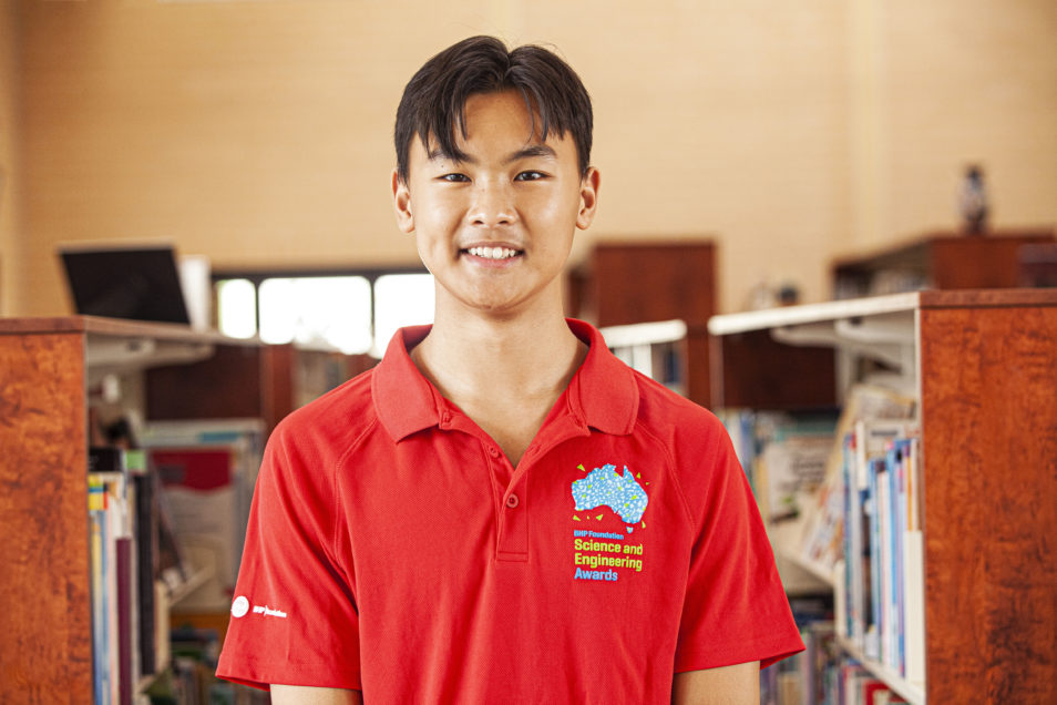 Ethan Tjhin from Redeemer Baptist School in North Parramatta, NSW. BHP Foundation Science and Engineering Awards 2020.