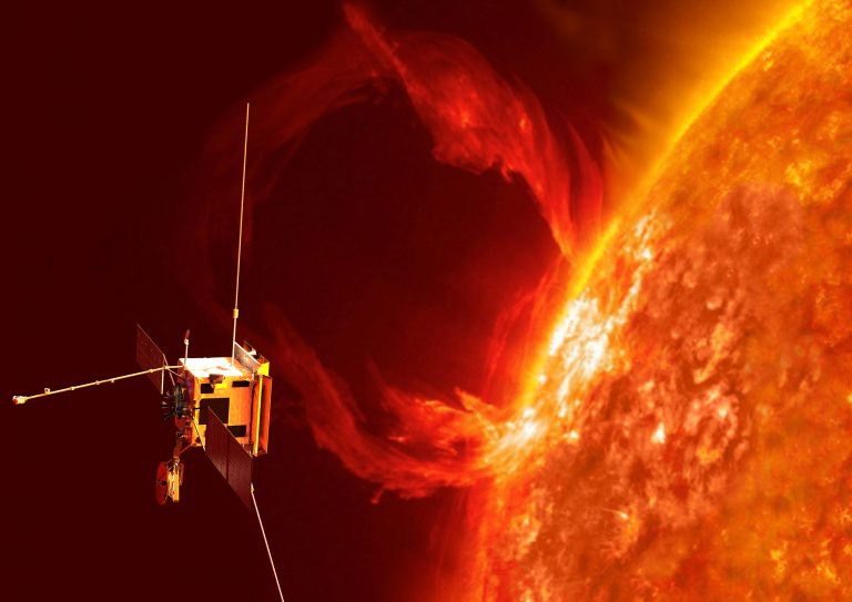 machine orbiting the Sun