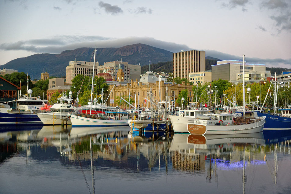 boats of the water in hobart, tasmania