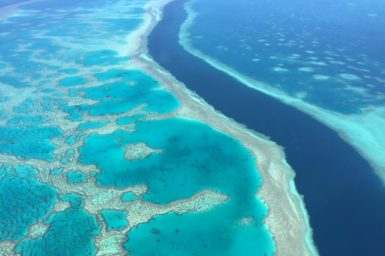 The Great Barrier Reef from the sky