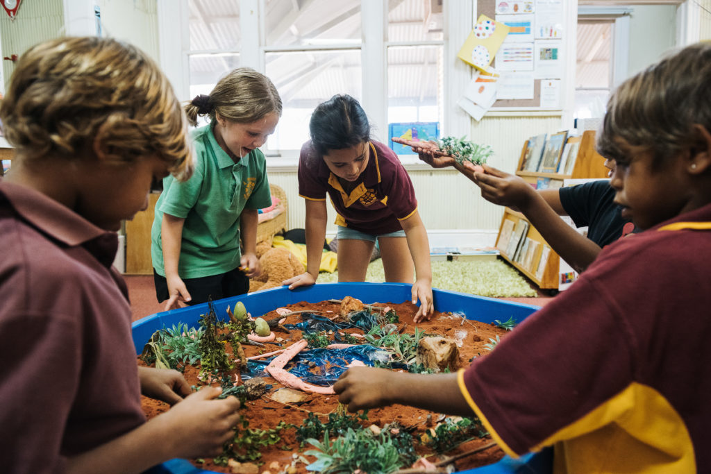 Two-way Science centres around the delivery of learning on country to remote school students by Indigenous Elders. Image by David Broun.