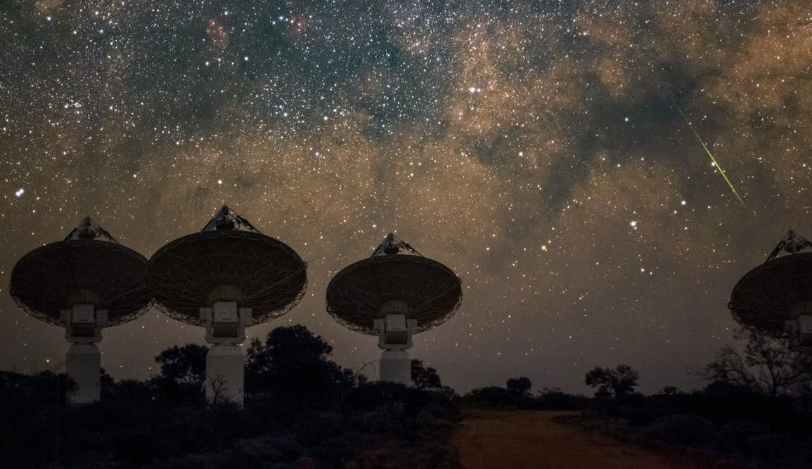 The night sky above ASKAP in Western Australia