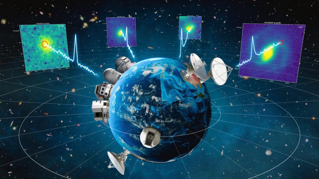 Our ASKAP radio telescope in Western Australia detected the precise location of four fast radio bursts. Image: Sam Moorfield