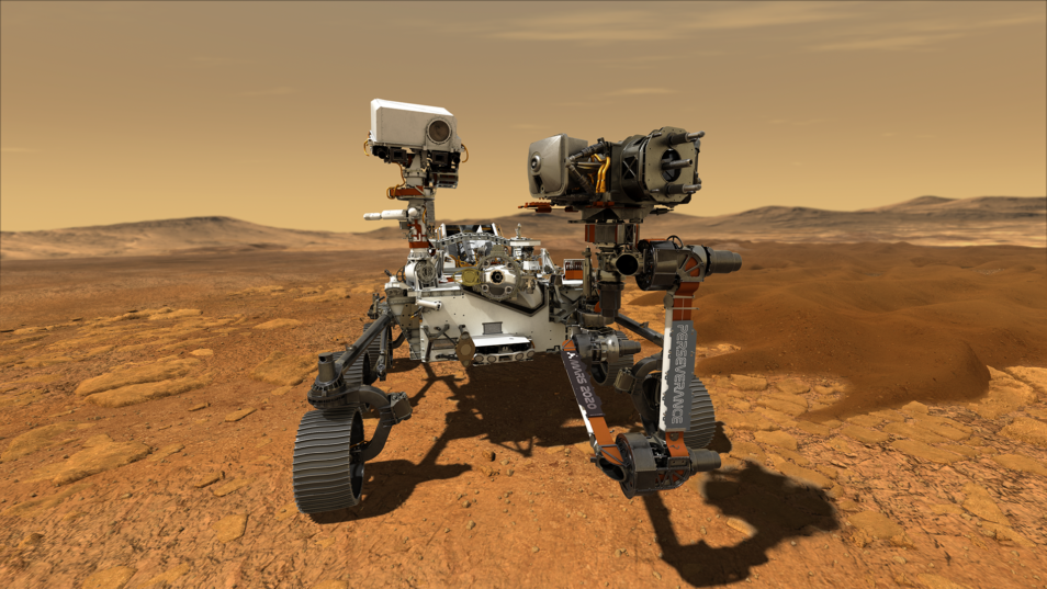 Illustration of NASA's Perseverance rover that will travel to mars