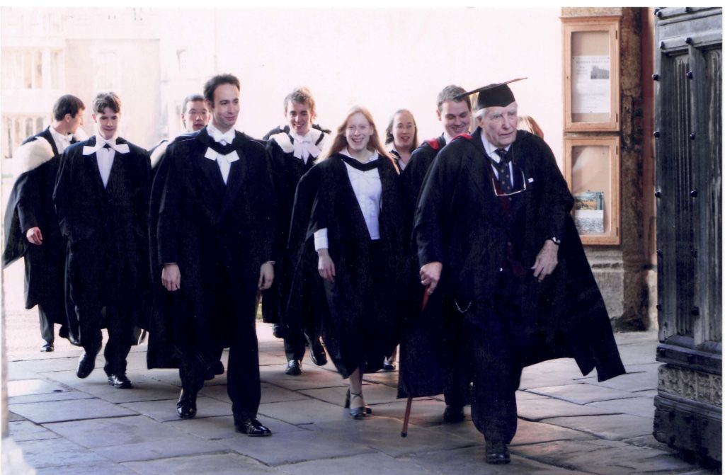 Sarah's PhD graduation photo.