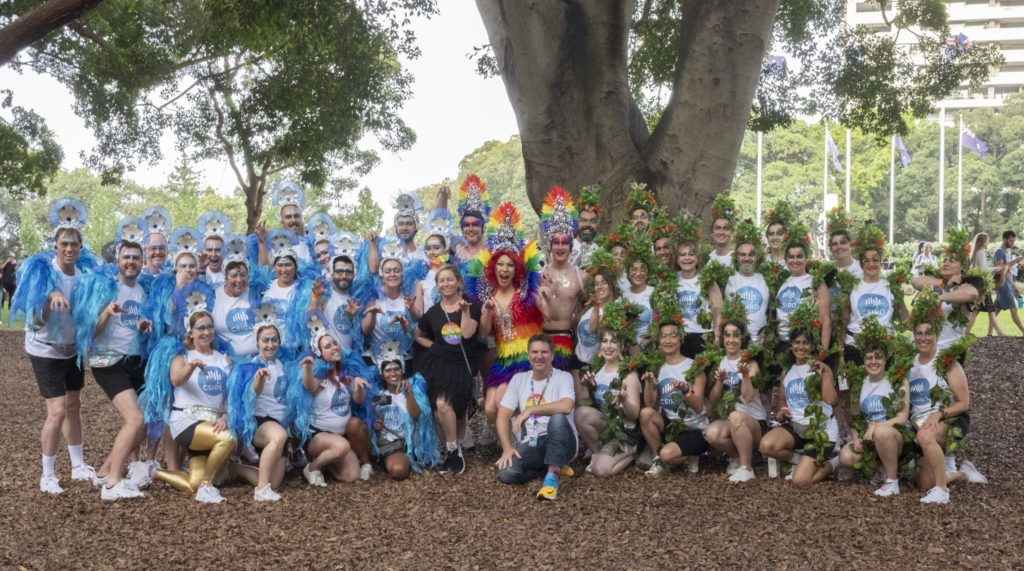 Over 50 of our scientists and employees marched in the 2020 Sydney Gay and Lesbian Mardi Gras demonstrate our commitment to LGBTIQ+ inclusion at CSIRO.