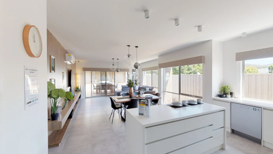 The inside of an energy-efficient house
