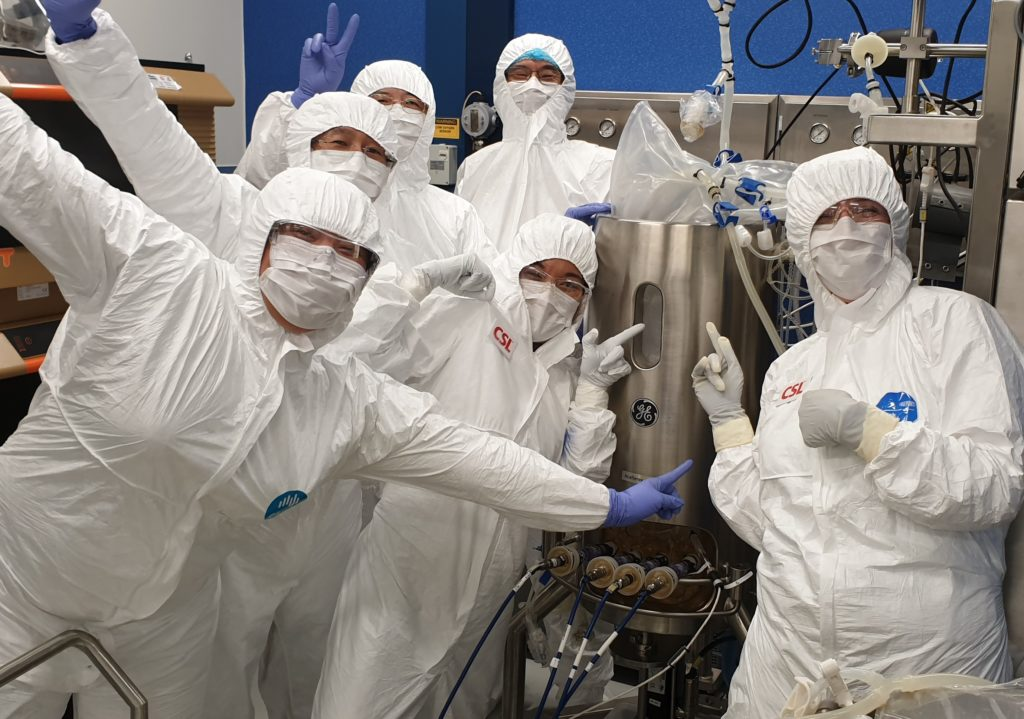 Our CSIRO people working on the COVID-19 vaccine candidate.
