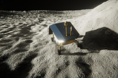 A rover looking for lunar ice
