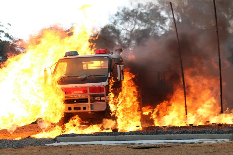 A firetruck on fire