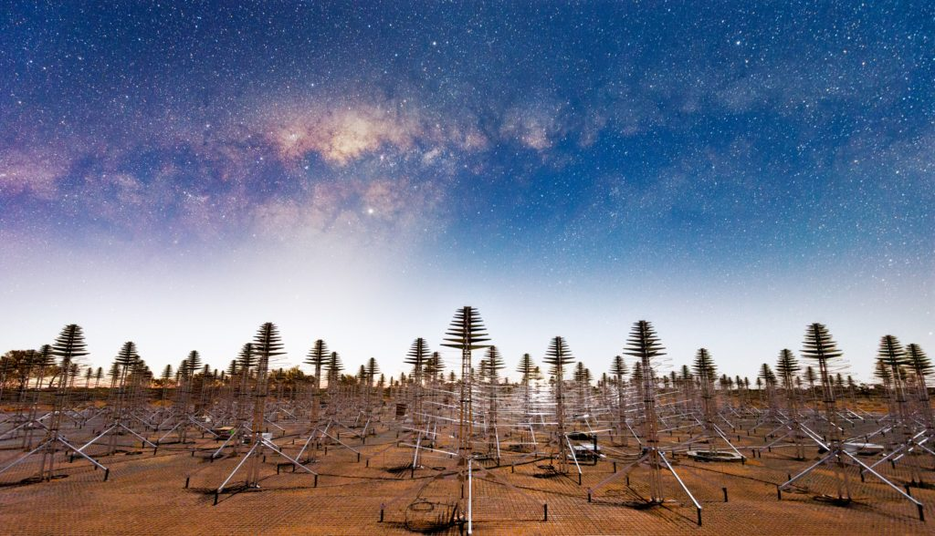 The Murchison Radio-astronomy Observatory in outback Western Australia will house up to 130,000 antennas like these and the associated advanced technologies.