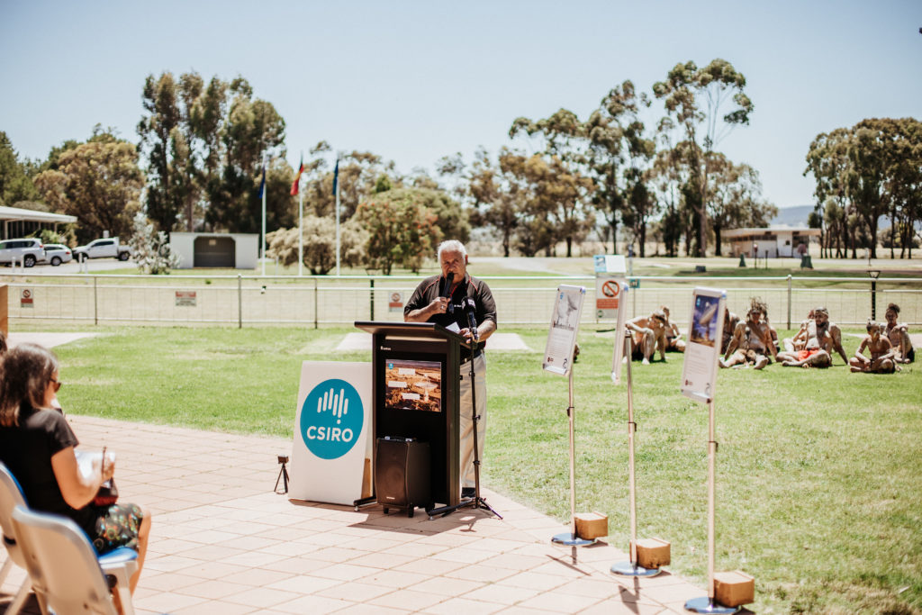 Wiradjuri Elder, Dr Stan Grant (OAM), announced the Indigenous names at naming ceremony