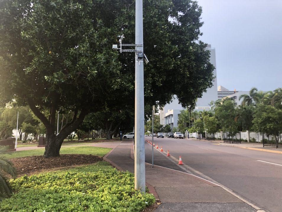A Darwin smart sensor on a pole in the street