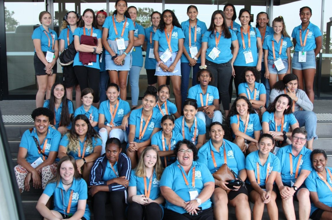 The Young Indigenous Women's STEM Academy camp attendees in January 2020.