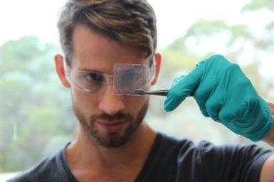early career scientists Adrian Murdock looking at graphene
