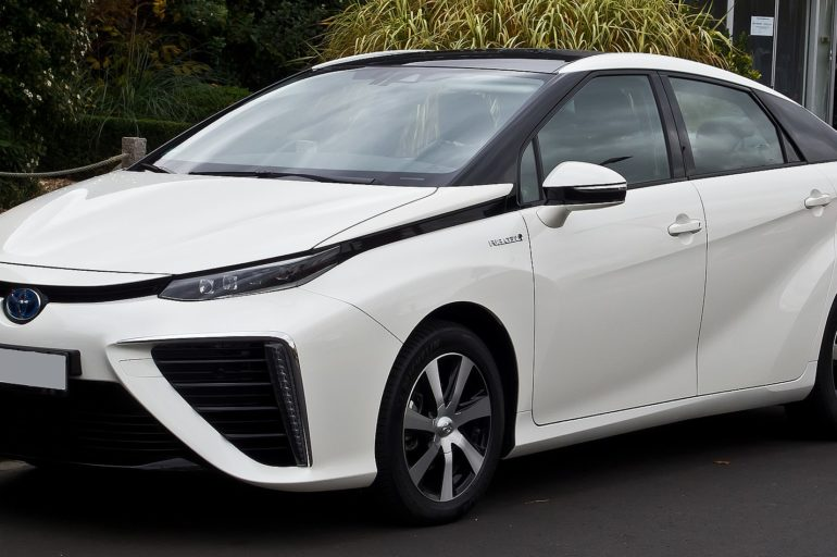Photo of a hydrogen powered Toyota car