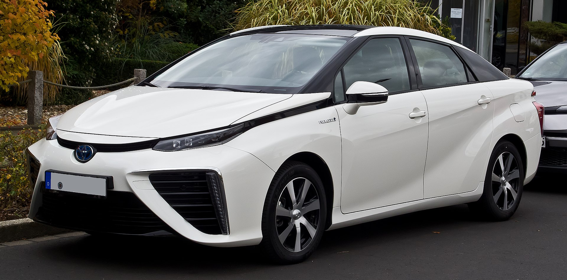 Photo of a hydrogen-powered car.